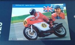 Carte Postale Moto Gp Mv Agusta Phil Read 500cc - Motorcycle Sport