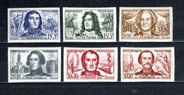 FRANCE  N° 1207 à 1212   NON DENTELES  NEUFS SANS CHARNIERE  COTE 140.00€  MAURY 215.00€   CELEBRITES - Frankreich