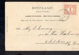 Spijk KLeinrond - 1908 - Marcofilia