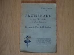 LIVRET PROMENADE AU BORD DE L'INDRE A MONTBAZON E. BEAUNIER 1929 - Livres, BD, Revues