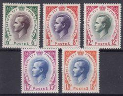 Monaco 1955 Mi#506-510 Mint Never Hinged - Unused Stamps