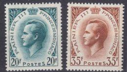Monaco 1957 Mi#583-584 Mint Never Hinged - Unused Stamps