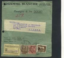 1930 Italia, Frontespizio Di Pacco Affrancato Per Lire 87,50 Tariffa Editori - Marcofilía