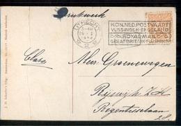 Kon Ned Postvaart Vlissingen Engeland - 1924 - Marcofilia