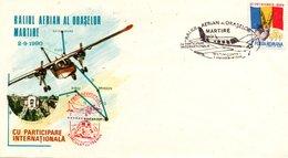 Romania 1990, Themed Envelope, The Martyr Cities Rally In Romania - Cartas