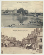 Lot 2 Cartes Décize-nouveau Pont Avec Pêcheurs Et Faubourg St Privé - Decize