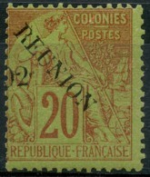 Reunion (1891) N 29 * (charniere) - Réunion (1852-1975)