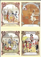 Au Bon Marché...7 Cpm ...chansons Enfantines D'après Cartes Anciennes..malbrough,la Boulangère,le Furet Du Bois Joli.ect - Publicité