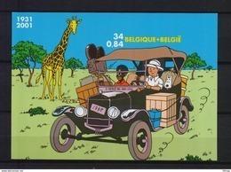 BLOK 93 KUIFJE TINTIN ONGETAND POSTFRIS** 2001 - Belgique