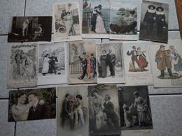 40 CP HOMME ET COUPLE - Postcards