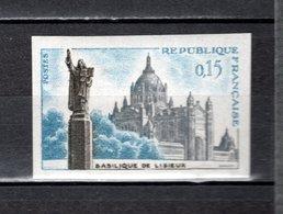 FRANCE  N° 1268a  NON DENTELE NEUF SANS CHARNIERE  COTE 30.00€   BASILIQUE DE LISIEUX - Frankreich