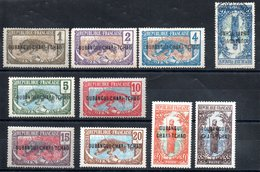 Oubangui-Chari-Tchad Y&T 1* - 7*, 9(*), 10* + 8°(offert) - Oubangui (1915-1936)