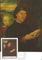 U) 1969, ROMA, PORTRET DE BARBAT CINTID, HANS MEMLING, MAXIMUM CARD - Italy