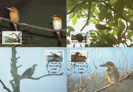 98856) Mikronesien - 1990 WWF 093 - Mi 174 / 177 - 4 MK/MC - Vögel Mikronesiens - Mikronesien