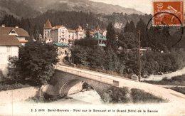 74 SAINT-GERVAIS  PONT SUR LE BONNANT ET LE GRAND HOTEL DE LA SAVOIE - Saint-Gervais-les-Bains