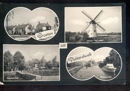 Puttershoek - Groeten Uit Molen - 1955 - Netherlands