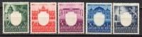Generalgouvernement - 1943 - Michel N° 105 à 109 ** - 1939-44: II Guerra Mondiale