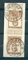 113 Gestempeld  In Paar WOLVERTHEM - COBA 16 Euro - 1912 Pellens
