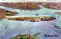 POSTAL. POSTCARD. AVION. PLANE. AIRPLANE. EL INTERAMERICANO DC-7B. - NTVG. - 1946-....: Era Moderna