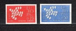 FRANCE  N° 1309 + 1310   NON DENTELES  NEUFS SANS CHARNIERE  COTE 130.00€   EUROPA - Ongetand