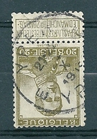 112 Gestempeld YPER - YPRES E - 1912 Pellens