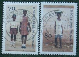 Unicef Complete Set NVPH 1690-1691 (Mi 1590-1591); 1996 Gestempeld / USED NEDERLAND / NIEDERLANDE - 1980-... (Beatrix)