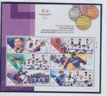 Korea 2018 Olympic Games PyeongChang Victorious Heroes Souvenir Sheet MNH/** (H59A) - Winter 2018: Pyeongchang