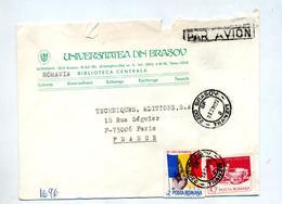 Lettre Cachet Brasov Sur Art  Anniversaire Entete Université - Marcofilia - EMA ( Maquina De Huellas A Franquear)