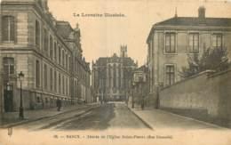 54 - NANCY - ABSIDE DE L'EGLISE SAINT PIERRE - RUE LIONNOIS - ROYER - PUB SELS A LA MOUETTE - Nancy