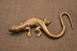 Magnifique Objet Ancien En Bronze,Dinant,Salamandre,longueur.16 Cm. Patine D'origine,bel Objet Ancien - Bronzen
