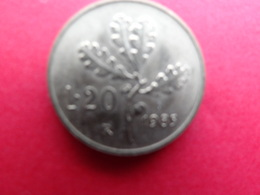 Italie  20 Lire  1985  Km 97.2 - 20 Lire