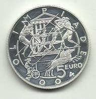 2003 - San Marino 5 Euro Argento - Olimpiadi - Senza Confezione - San Marino
