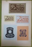 Beau Lot De 5 Ex-libris Illustrés Début XXème - EUGEN ET GUSTAV WIEDAMANN - Ex-libris