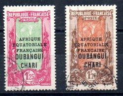 Oubangui-Chari Y&T 80°, 82° - Gebraucht