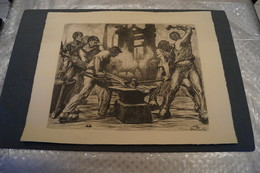 Magnifique Ancienne Gravure Originale De Pierre Paulus,superbe état,dimensions ; 63 Cm. Sur 49 Cm. - Estampes & Gravures