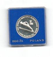 POLEN 200 ZLOTYCH 1980 ZILVER PROOF LAKE PLACID - SKIEN - ZONDER OLYMPISCHE TOORTS - W.O. TORCH - Polen