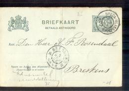 Breda Vlissingen Grootrond Breskens - 1907 - Poststempel