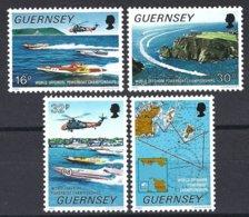 Guernsey, Yv 428/31, Championnats Du Monde De Motonautisme ** - Guernesey