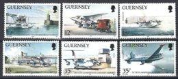 Guernsey, Yv 455/60, Avions,Aéroport, Service Postal Aérien  ** - Poste