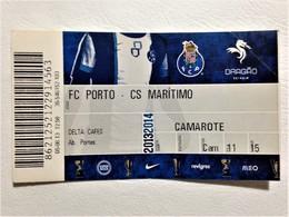Football Ticket, FC Porto Vs Marítimo, Porto, August 5, 2013 - Tickets - Entradas