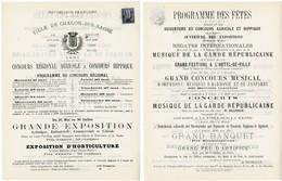 SAONE & LOIRE AFFICHE NON PLIEE 210 X 267mm 1C SAGE CAD CHALONS 6 MAI 1881=>AIN.COTE D'OR.DOUBS.JURA.SAONE ETLOIRE.HAUTE - Marcophilie (Lettres)