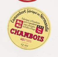 F/ETIQUETTE DE CAMEMBERT BUQUET CHAMBOIS 61 Q - Quesos
