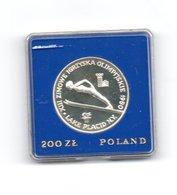 POLEN 200 ZLOTYCH 1980 ZILVER PROOF LAKE PLACID - SKIEN - MET OLYMPISCHE TOORTS - WITH TORCH - Polen
