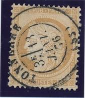 "15 C Bistre Obl Cad ""Tonnerre 13 Janv 76"" TTB. - 1871-1875 Ceres"