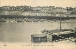 69 - LYON - QUAI SAINT CLAIR ET LA CROIX ROUSSE - Lyon
