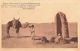 Algerie Texte Pierre Aguetant Dans Ce Desert , Un Puits Dans Le Desert - Algérie