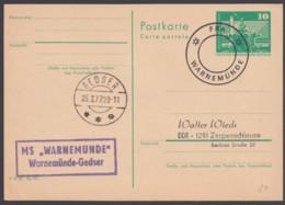 Mi-Nr. P79, Schiffspost, MS Warnemünde, 1977 - Cartes Postales - Oblitérées