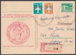 """Mi-Nr. P84, Zudruck """"Siegel Kloster Nimbschen"""", Mit Pass. Zusatzfr. Als R- Karte """"Grimma"""" - Postcards - Used"""