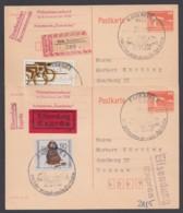 Mi-Nr. P86II, 2 Karten, Je Pass. Zusatzfr. Als Eilboten- Bzw. R- Karten - Cartoline - Usati