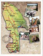 1 Map Of South Africa * Landkarte Des Kruger-Nationalparks - Das Größte Wildschutzgebiet Südafrikas * - Landkaarten